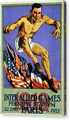 1919 Allied Games Poster Canvas Print by Historic Image