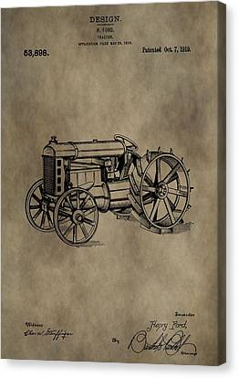 1919 Tractor Patent Canvas Print