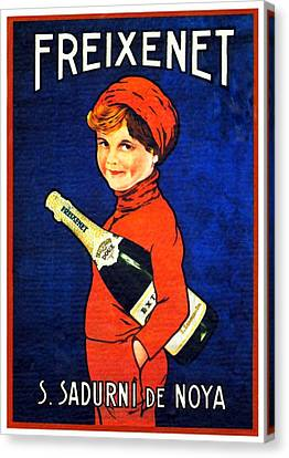 1920 - Freixenet Wines - Advertisement Poster - Color Canvas Print by John Madison