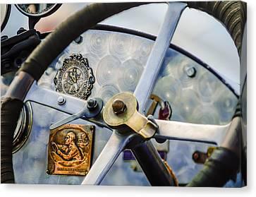 1920 Bugatti Type 13 Steering Wheel - Dashboard -1634c Canvas Print by Jill Reger