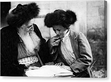 1920 Studying The Torah No.2 Canvas Print by Historic Image