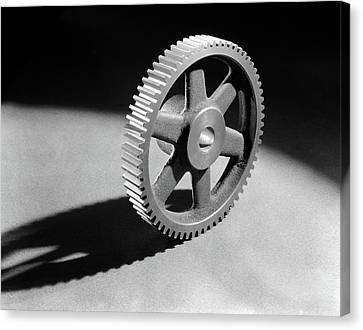 Copy Machine Canvas Print - 1920s 1930s 1940s Round Machined by Vintage Images