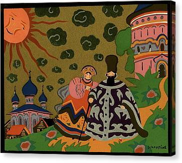 Russian-style Canvas Print - 1920s 1930s Art Deco Painting Russian by Vintage Images