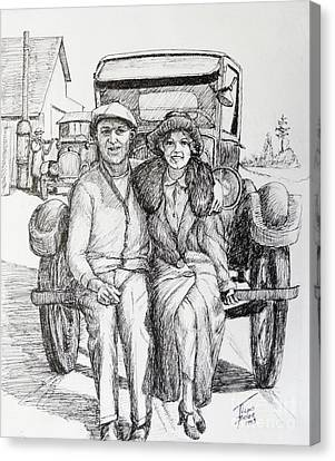 1920s Couple Canvas Print