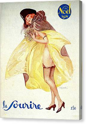 1920s France Le Sourire Magazine Cover Canvas Print by The Advertising Archives