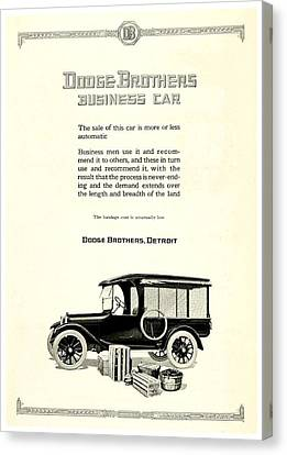 1921 - Dodge Brothers Business Car Truck Advertisement Canvas Print