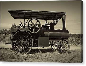 1921 Aultman Taylor Tractor Canvas Print by Debra and Dave Vanderlaan
