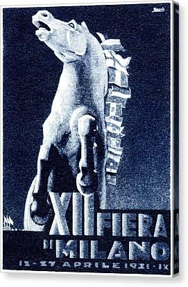1921 Italian Film Festival Canvas Print by Historic Image