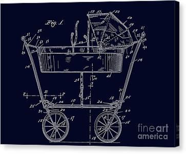 1922 Baby Carriage Patent Art Blueprint Canvas Print
