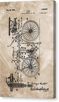 1922 Bicycle Patent Canvas Print by Dan Sproul