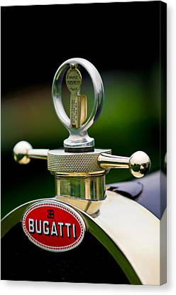 1923 Bugatti Type 23 Brescia Lavocat Et Marsaud Hood Ornament Canvas Print by Jill Reger