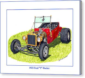 T Bucket Ford 1923 Canvas Print