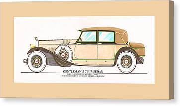 1923 Hispano Suiza Club Sedan By R.h.dietrich Canvas Print by Jack Pumphrey