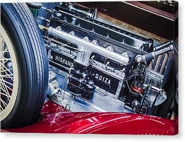 Hispano Suiza Canvas Print - 1924 Hispano-suiza H6b Dual  Cowl Sport Phaeton Engine Emblem by Jill Reger
