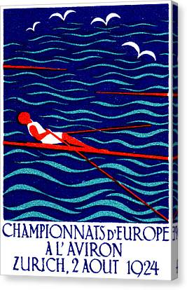 1924 Zurich Rowing Poster Canvas Print