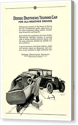 1925 - Dodge Brothers Touring Car Convertible Automobile Advertisement Canvas Print