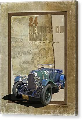 1925 Bentley 3 Litre - 24 Heures Du Mans Canvas Print