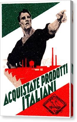 1925 Buy Italian Goods Canvas Print by Historic Image