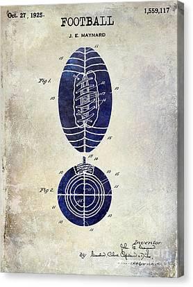 1925 Football Patent Drawing 2 Tone Canvas Print by Jon Neidert