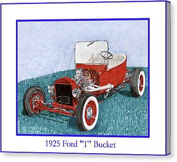 1925 Ford Hot Rod T-bucket Canvas Print by Jack Pumphrey