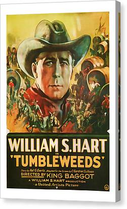1925 Tumbleweeds Vintage Movie Art Canvas Print by Presented By American Classic Art