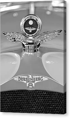 Motometer Canvas Print - 1926 Duesenberg Model A Boyce Motometer 2 by Jill Reger