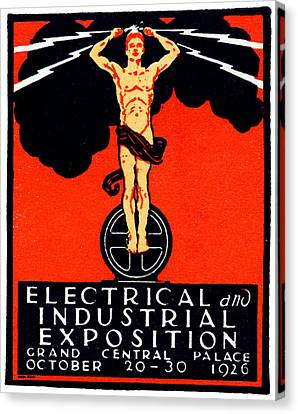 1926 New York City Electrical Industrial Exposition Canvas Print
