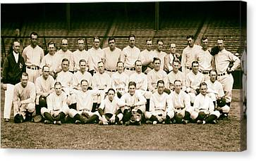 Gehrig Canvas Print - 1926 New York Yankees by Mountain Dreams