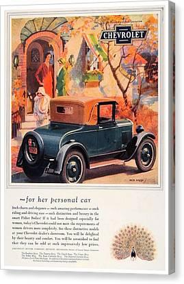 1927 - Chevrolet Advertisement - Color Canvas Print