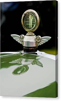 1927 Chandler 4-door Hood Ornament Canvas Print by Jill Reger