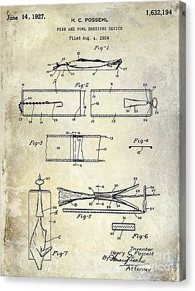 1927 Fish And Fowl Cleaning Device Patent Canvas Print by Jon Neidert