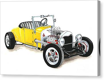 1927 Ford Roadster Canvas Print by Donald Koehler
