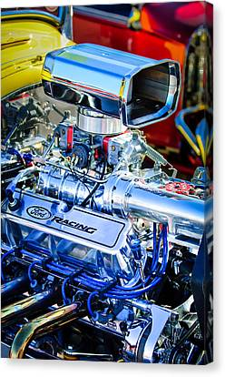 1927 Ford T-bucket Engine Canvas Print by Jill Reger
