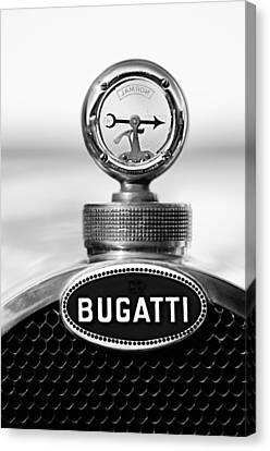 1928 Bugatti Type 44 Cabriolet Hood Ornament - Emblem Canvas Print by Jill Reger