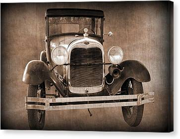 1928 Ford Model A Coupe Canvas Print by Betty Northcutt