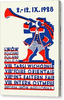 1928 Lwow Eastern International Fair Canvas Print