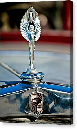 Mascots Canvas Print - 1928 Nash Coupe Hood Ornament 2 by Jill Reger