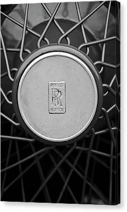 1928 Rolls-royce Spoke Wheel Canvas Print by Jill Reger