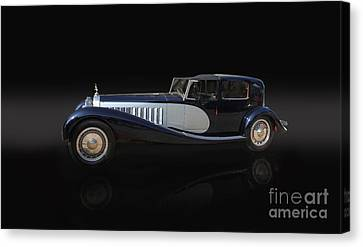1929 Bugatti Type 41 Royale Canvas Print by Roger Lighterness
