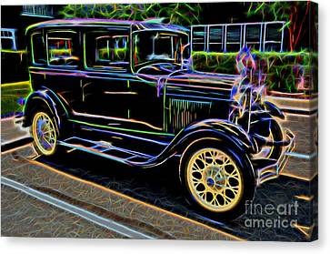 1929 Ford Model A - Antique Car Canvas Print by Gary Whitton