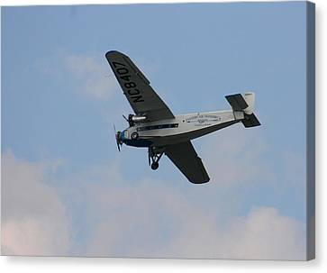 1929 Ford Tri Motor Mail Plane Side Canvas Print