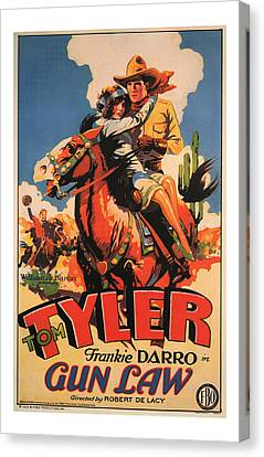 1929 Gun Law Vintage Movie Art Canvas Print by Presented By American Classic Art