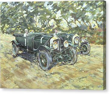 1929 Le Mans Winning Bentleys Canvas Print by Clive Metcalfe