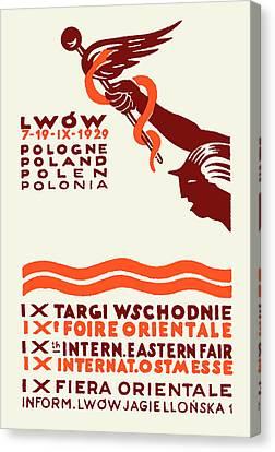 1929 Lwow Eastern International Fair  Canvas Print