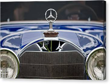 1929 Mercedes Benz S Erdmann And Rossi Cabiolet Hood Ornament Canvas Print