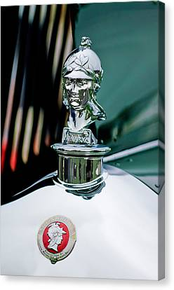 Mascots Canvas Print - 1929 Minerva Hood Ornament by Jill Reger