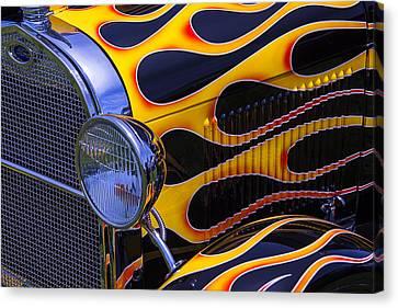 1929 Model A 2 Door Sedan With Flames Canvas Print