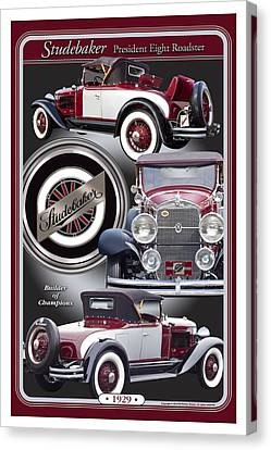 Canvas Print featuring the photograph 1929 Studebaker President by Ed Dooley