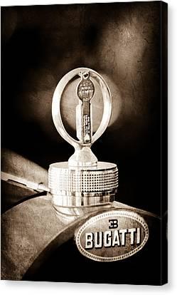 1930 Bugatti Type 43 Supercharged Sports Emblem - Moto Meter Canvas Print by Jill Reger