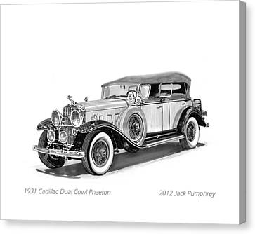 1931 Cadillac Phaeton Canvas Print by Jack Pumphrey